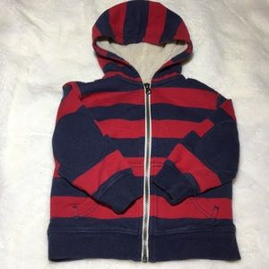 Hanna Andersson boys 3t sherpa lined sweatshirt